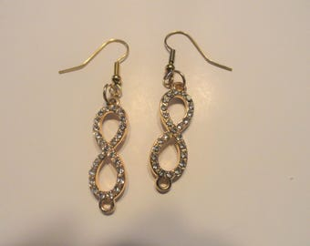 Gold Inifinity Earrings