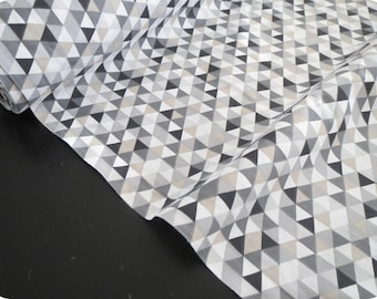 Oeko tex print TRIMIX gray black fabric
