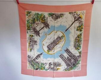 Vintage Souvenir scarf London 76cm x 78cm