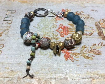 Blue dream boho bracelet indie artisan