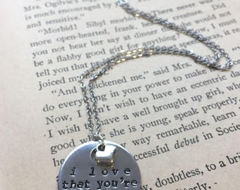 I Love That You're My Grandma - Hand Stamped Necklace or Key Chain