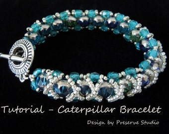 RAW Bracelet, Caterpillar Bracelet, Bracelet Tutorial, Beaded Bracelet Tutorial, Easy Bracelet Tutorial, DIY Bracelet, Beadwoven, Beading