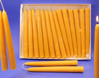 "100 Beeswax Candles, 50 Pair of 3/4"" x 8"" Hand Dipped Tapers,  Bulk Bees Wax Candles, Beeswax Candle Collection, 100 Wedding Candles"