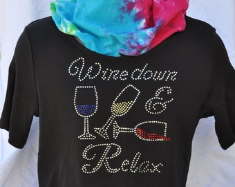 Rhinestone Bling..Wine Down and Relax
