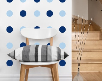 Mini Circle Pattern | Vinyl Wall Sticker,  Decal Art | Set of 80 Circles, 2-inch wide