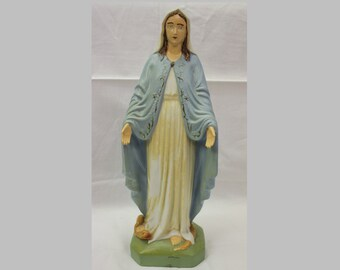 Vintage Virgin Mary Statue, Auax, Made in Japan