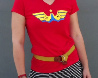 ASL Superhero - Wonder Woman 100% Cotton Available in Unisex or Ladies V-Neck