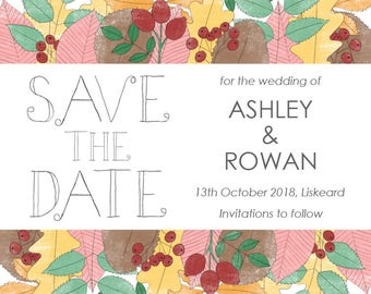 Autumn // Save the Date