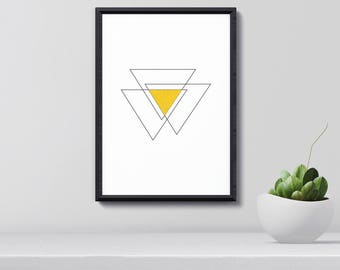 Modern Geometric Print, Geometric Poster,  Abstract Wall Art, Contemporary Art Print, Home Decor, Gift for Her, Chirstmas Gift, Printable