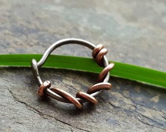18g little vine hoop-- primitive series-- handmade by thebeadedlily