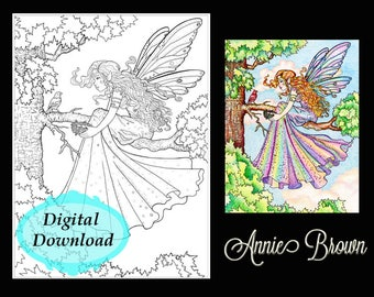 Adult Coloring Page Fairy Fairy Coloring Page For Adults