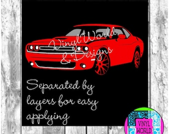 Dodge Challenger, SVG, Cut File, Cricut file, Silhouette, DXF, EPS, png, jpeg, studio, Racing Cars, Kids, cars, sports cars