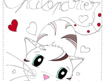 CHALENDRIER - Tendres petits Chats à colorier