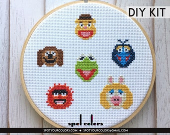 The Muppets Sampler Counted Cross Stitch DIY KIT Intermediate