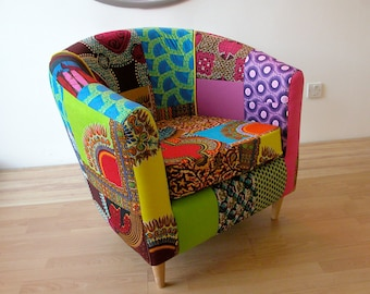 Technicolour Tub Chair Designed by Ray Clarke Upholstery in Collaboration with YouMeWe