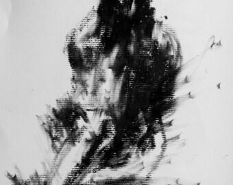 Haunting Fine Art Figure Drawing, No. 26