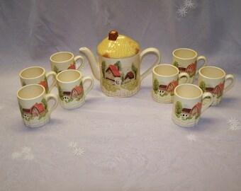 1950's Marks and Rosenfeld Teapot and Mug Set