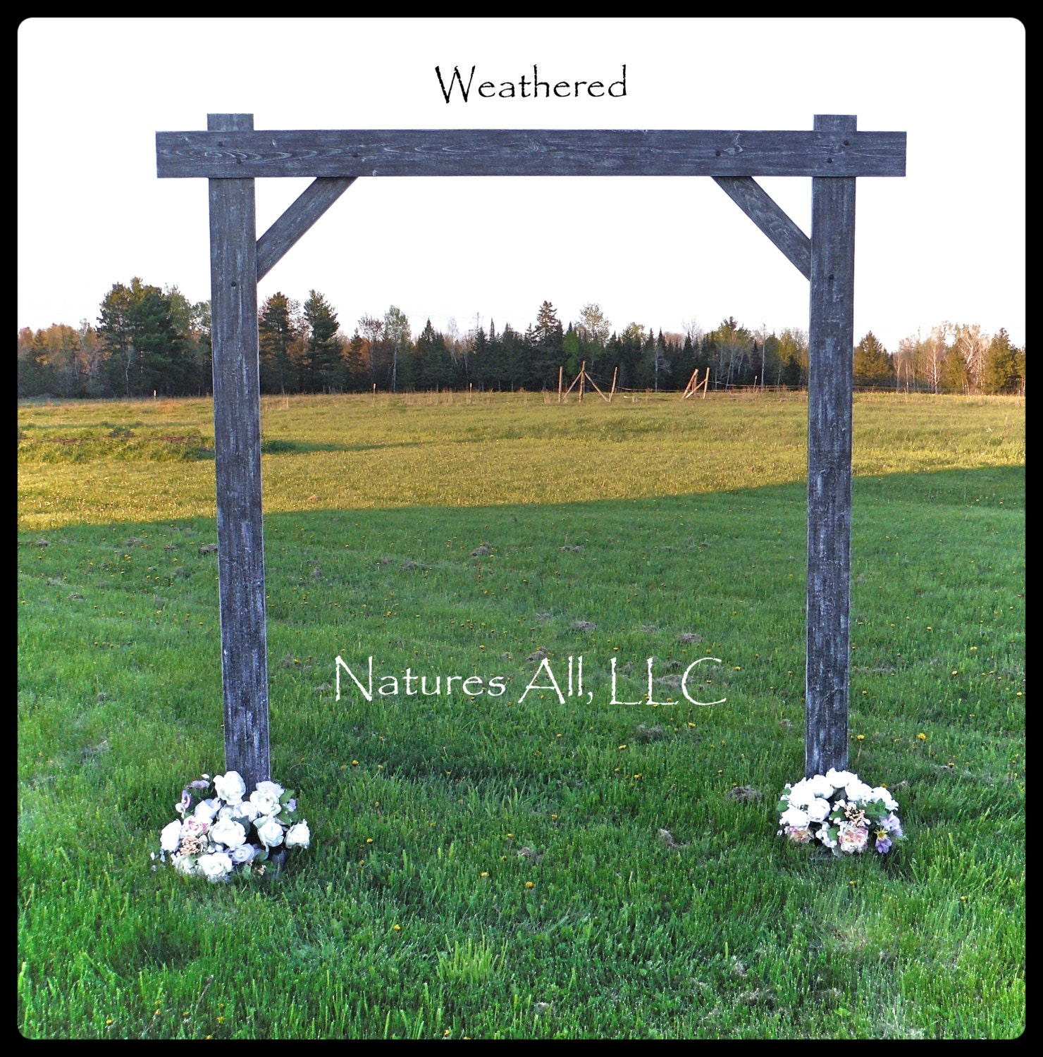 Outdoor Wedding Arch: Wedding Arch/Wedding Arbor/Rustic Wedding Arch/Complete Kit/