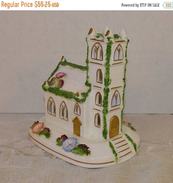 Delayed Shipping Coalport Church Pastille Burner Vintage Miniature Cottage Church Fine Bone China Made in England Coalport Collectible Gifts