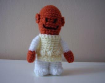 Hand Crochet Star Wars Admiral Ackbar Amigurumi Doll