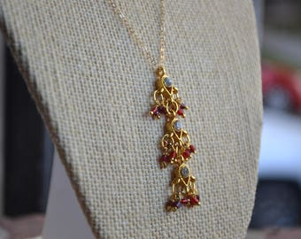 Indian inspired Gold Necklace