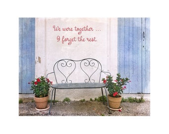 We Were Together, France, Inspirational Print, Wedding Gift, Valentine's Day, Hearts, Love, Romance