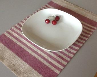 linen placemats / striped linen placemats / rustic linen placemats