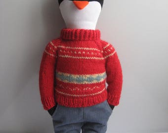 Oliver the Penguin. Eco Friendly Plush Toy.