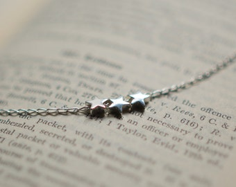 Sterling Silver Stars Pendant Necklace, Gift for Her - Best Friend, Sister, Girlfriend