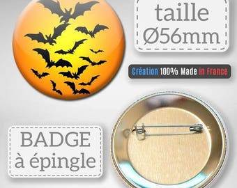 Halloween bat badge mouse gift party 56 mm