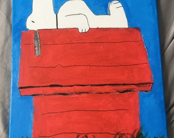 Snoopy and Woodstock Painting