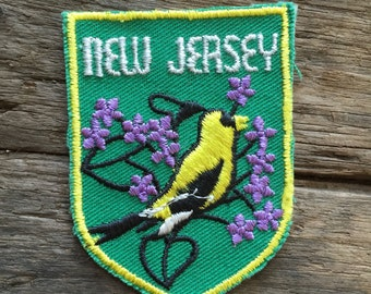 New Jersey Vintage Souvenir Travel Patch from Voyager