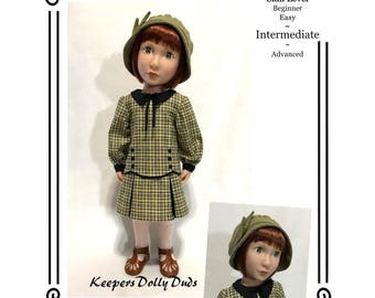 """PDF Pattern KDD25-16 """"Downtown 1920s""""- An Original KeepersDollyDuds Design, 16"""" Doll Clothes"""