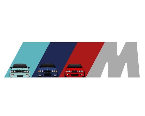 bmw e30 e36 e46 m power bmw early m3 generations art rh etsy com  bmw m3 logo brake caliper cover