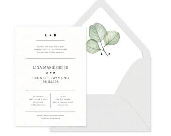 Simply Modern Wedding Invitations