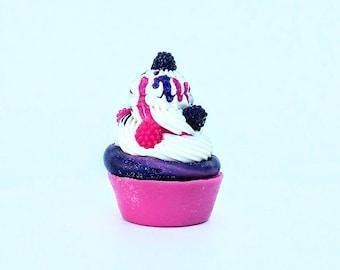 Black Raspberry Vanilla Jam 6.0 oz Cold Process Soap Cupcake