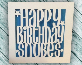 Papercut - Personalised Happy Birthday Card