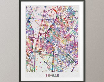Seville map Etsy
