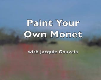Paint Your Own Monet Painting VIDEO, Tutorial Landscape Painting, Painting Lesson,Learn to Paint,How to, Young Artist, Beginner Level Artist