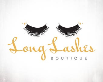 Premade Logo Design • Long Lashes