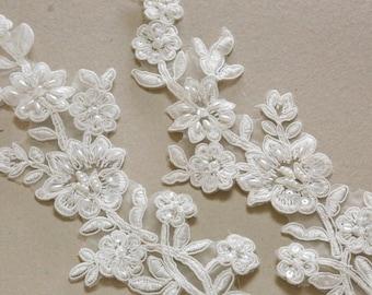 Ivory Bridal Lace applique - AppSet-032