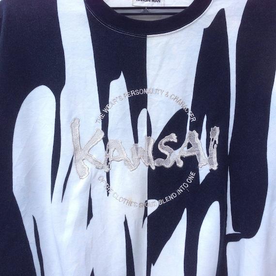 clothingVintage men spellout Kansai fullprint men Rare clothing Vintage logo vintage big q0585C