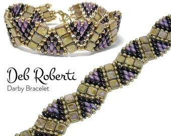 Darby Bracelet beaded pattern tutorial by Deb Roberti