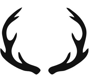Mule Deer Antlers Stencil Made from 4 Ply Mat Board-Choose a Size-From 5x7 to 24x36
