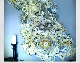 Salvaged Book Wall Art Sculpture
