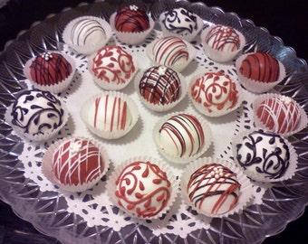 Cake Truffles, Cake Balls, Dessert Buffet, 1 Dozen