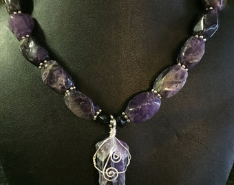 Chunky Amethyst Necklace