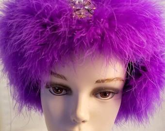 Purple Ear Warmer or Fascinator
