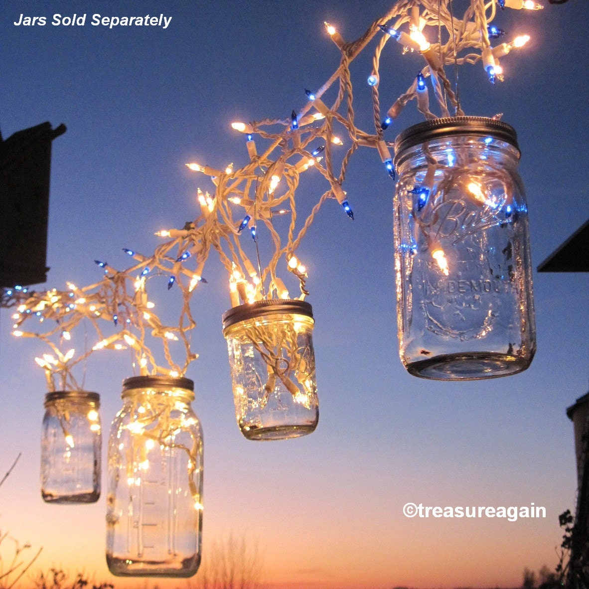 Fairy lights lanterns 6 diy mason jar hangers twist on zoom arubaitofo Gallery
