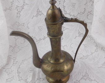 Vintage Brass Pitcher